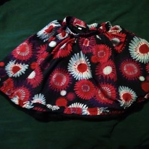 Girls floral skirt small lined stretch waist